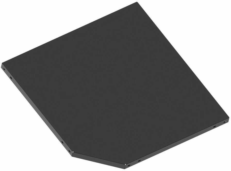 Półka narożna do systemu regałowego 50 x 50/65 cm METALKAS