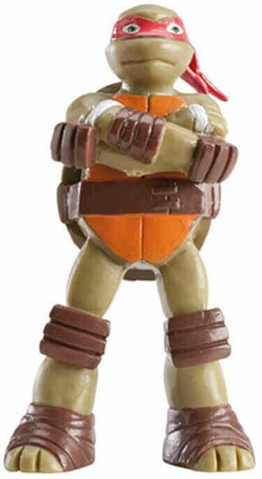 Dekoracyjna figurka tortowa Wojownicze Żółwie Ninja - Raphael - 1 szt.