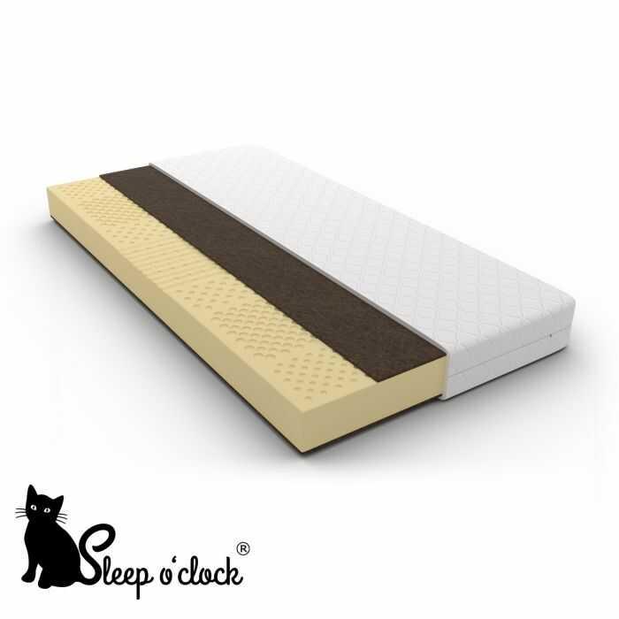 materac lateksowy COCONUT sleep o''clock 180x200 H3 + RATY
