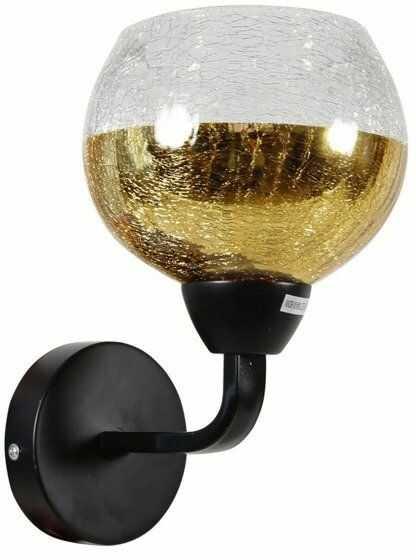 CROMINA GOLD LAMPA KINKIET 1X60W E27 CZARNY - złoty czarny + złoty