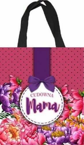 Torba zakupowa dla Mamy, Cudowna Mama, kropki i kokardka