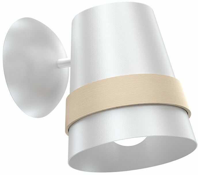 Milagro VENEZIA WHITE MLP5436 kinkiet lampa ścienna skandynawski styl metalowa biała drewno 1xE27 18cm