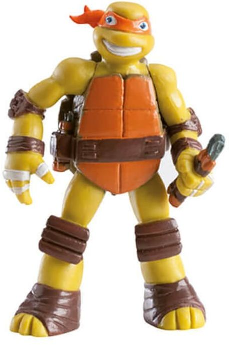 Dekoracyjna figurka tortowa Wojownicze Żółwie Ninja - Michelangelo - 1 szt.