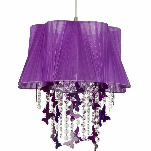 Fioletowa lampa kryształ Nowodvorski FILTON I zwis 5136
