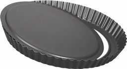 Foremka do tarta, żłobiona, wyjmowane dno  Dulce, czarna, 28 cm