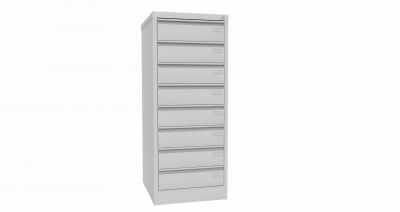 Metalowa szafka na dokumenty SZK 324 - 8 szuflad pięciorzędowych