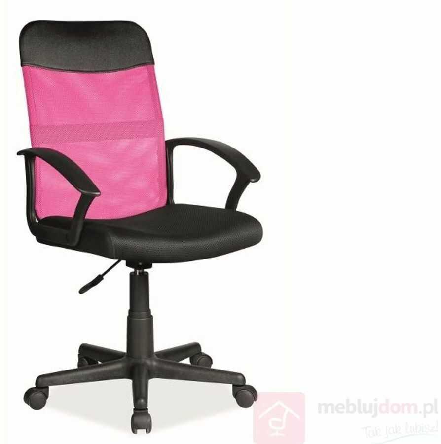 KUPON 10% NA STRONIE  Fotel obrotowy Q-702 Signal Różowy