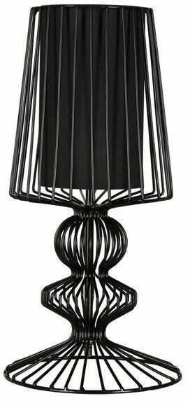 Druciana lampa stołowa AVEIRO Black wys. 43cm 5411 + RABAT w koszyku za ilość !!!