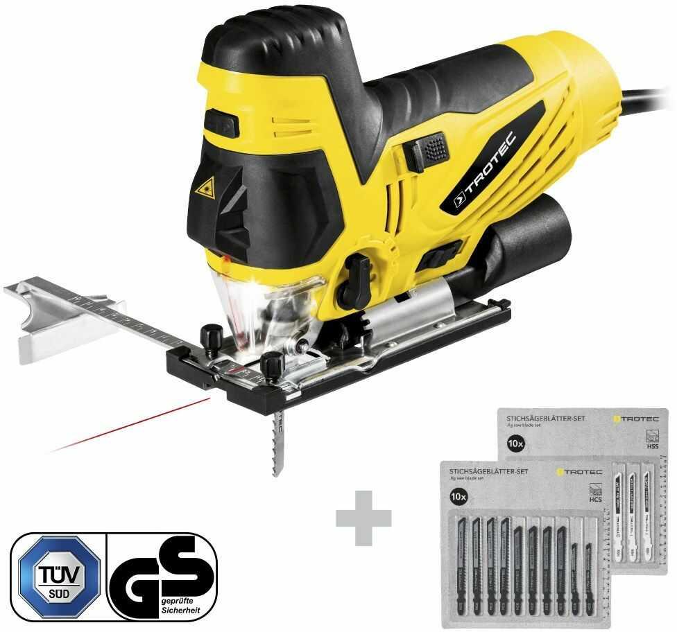 Wyrzynarka PJSS 13-230V + Zestaw brzeszczotów do drewna + Zestaw brzeszczotów do metalu