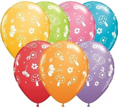 """Balon 11"""" z nadrukiem Motyle w ogrodzie"""