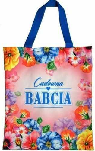 Torba zakupowa dla Babci, Cudowna Babcia, kwiaty