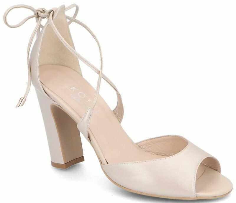 Taneczne sandałki ślubne - KOTYL 5901 PERŁOWE