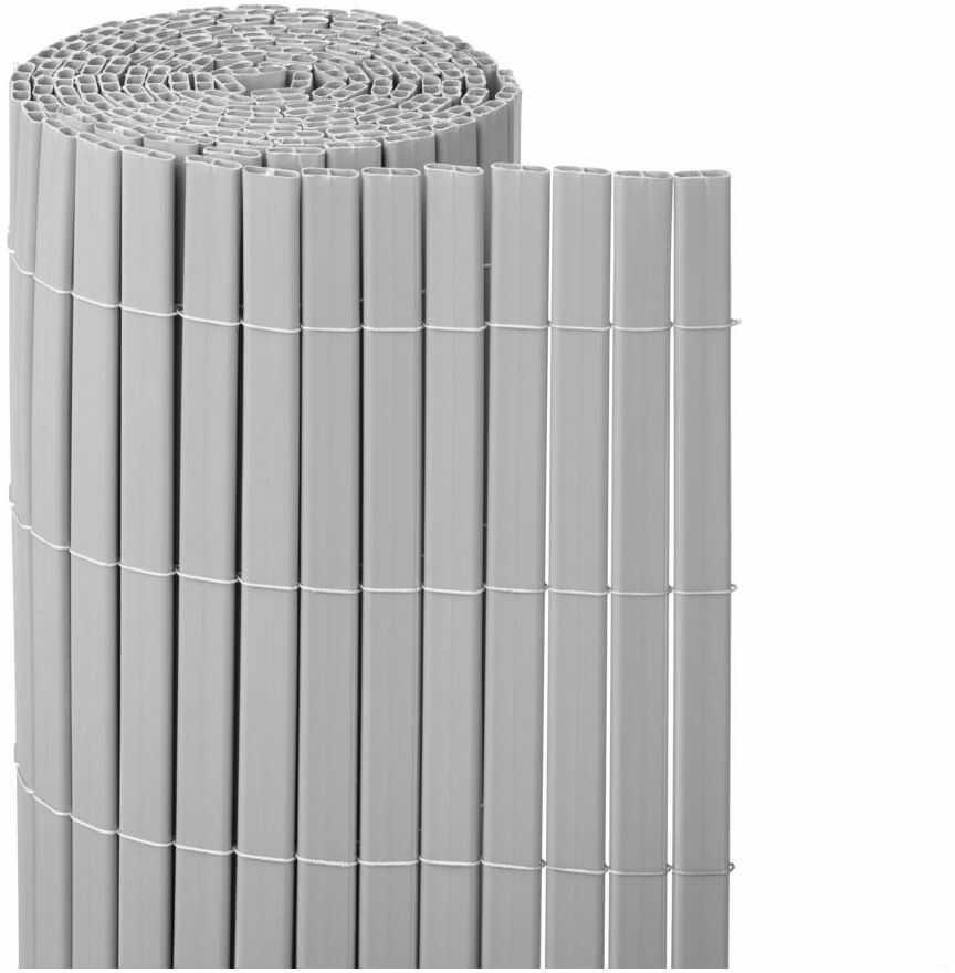 Osłona balkonowa PVC 3 m x 100 cm szara NATERIAL