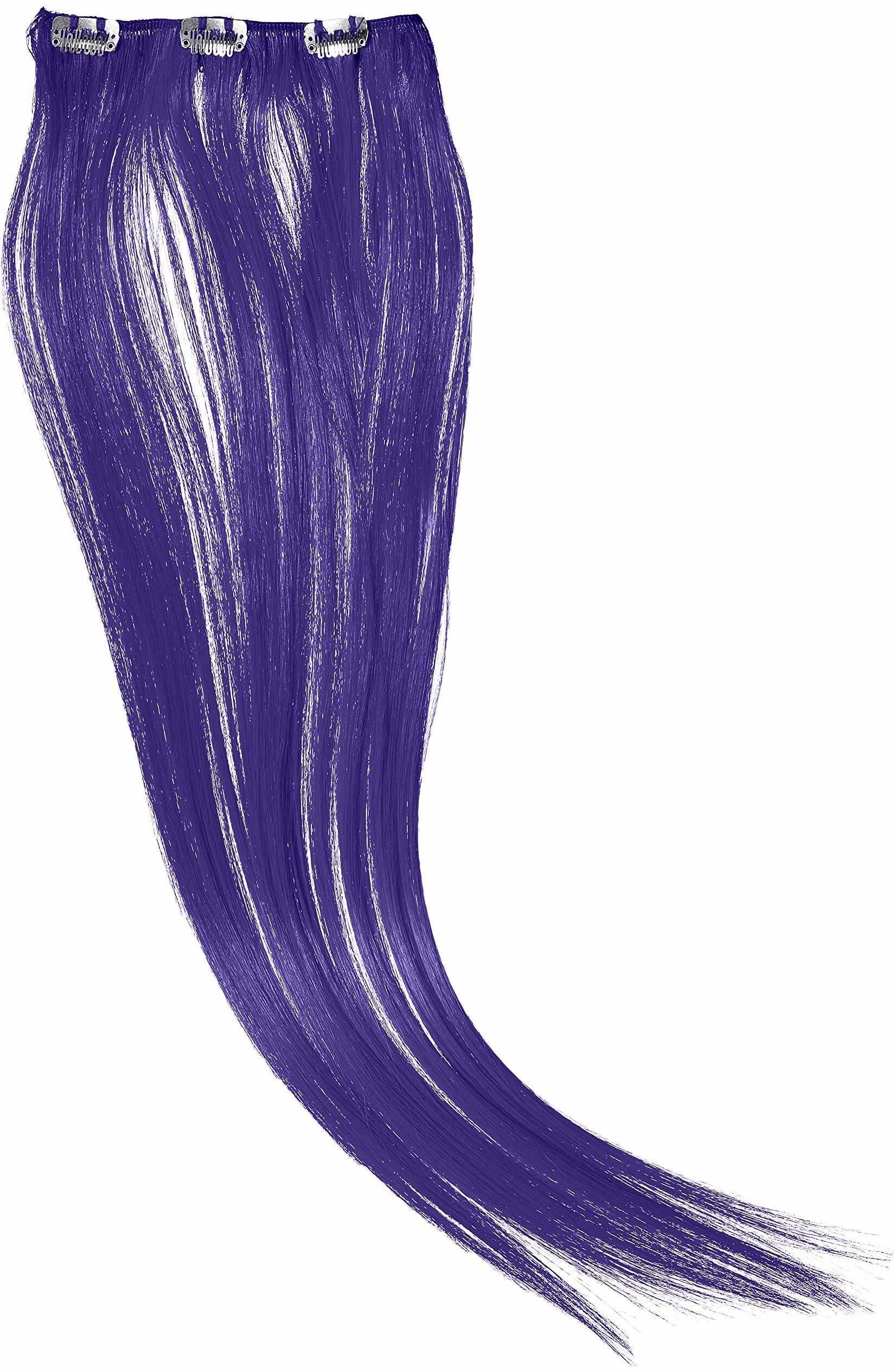 Hairaisers Clip and Go Extensions, 45 cm sztuczne włosy, lawendy, 1 sztuka