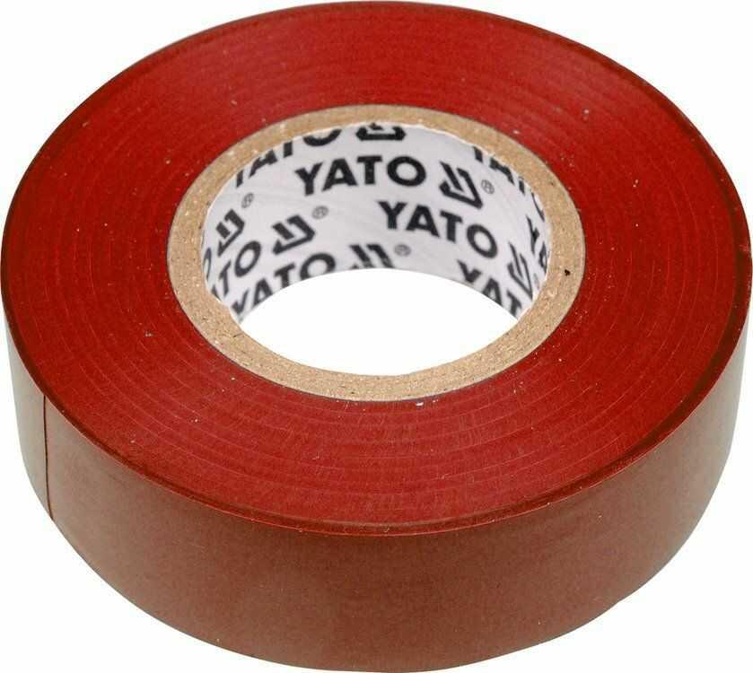 Taśma elektroizolacyjna 19mmx20mx0,13mm, czerwona Yato YT-8166 - ZYSKAJ RABAT 30 ZŁ