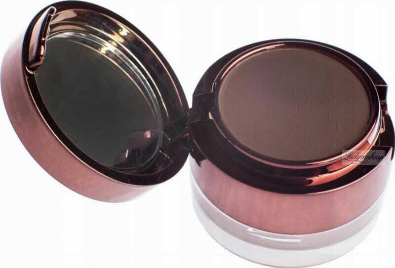 Ibra - Eyebrow Pomade & Powder - Zestaw do makijażu brwi - Pomada i cień do brwi z pędzelkiem - DARK CHOCOLATE