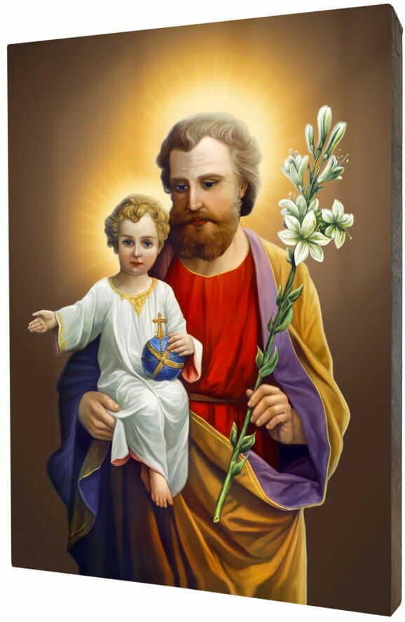 Święty Józef, obraz na desce lipowej