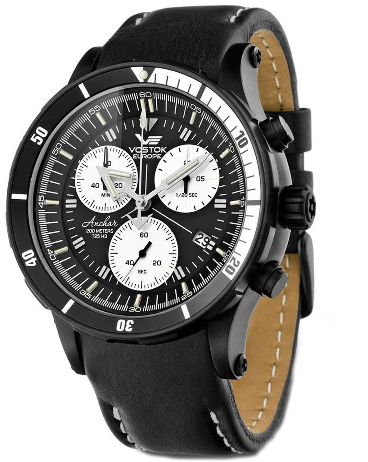 Zegarek Vostok Europe 6S30-5104184 Anchar Chrono - CENA DO NEGOCJACJI - DOSTAWA DHL GRATIS, KUPUJ BEZ RYZYKA - 100 dni na zwrot, możliwość wygrawerowania dowolnego tekstu.