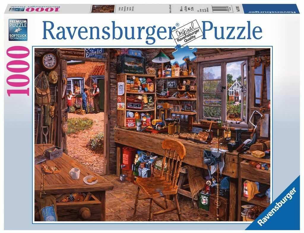 Puzzle Ravensburger 1000 - Dziadkowa szopa, Grandpa shed