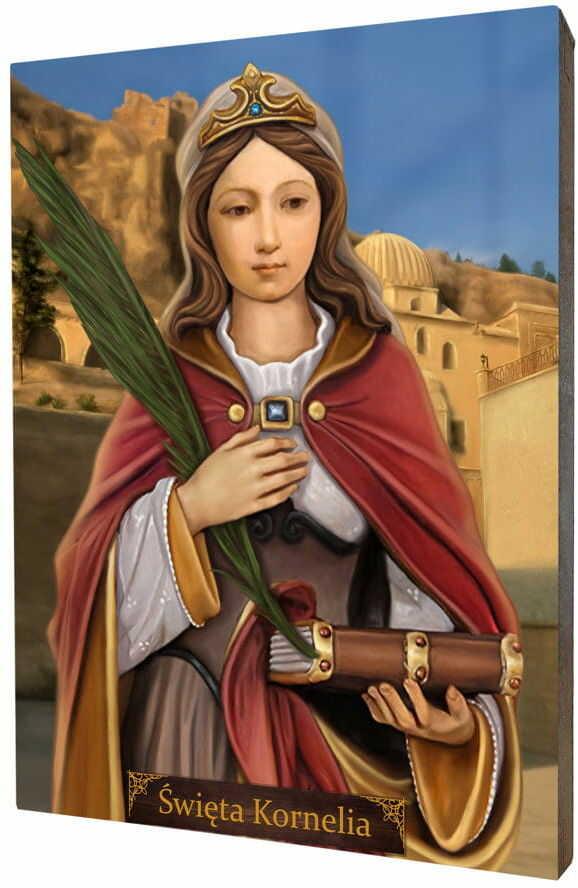 Święta Kornelia, obraz na desce lipowej
