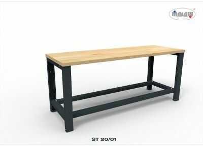 """Metalowy Stół ST20/01 """"TRÓJKA"""" warsztatowy blat nośność 1350 kg"""