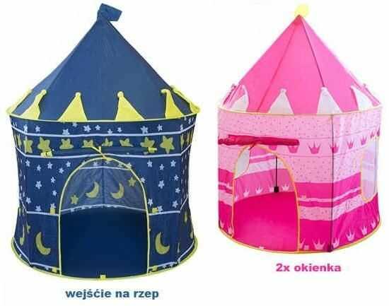 Zamek / Namiot do Zabawy (w 2 kolorach do wyboru).