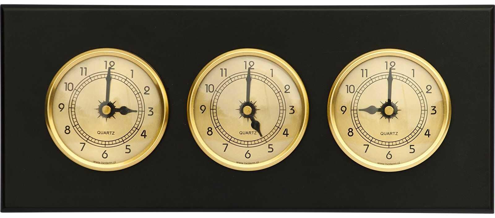 Zegar 3 w 1 (złote tarcze)