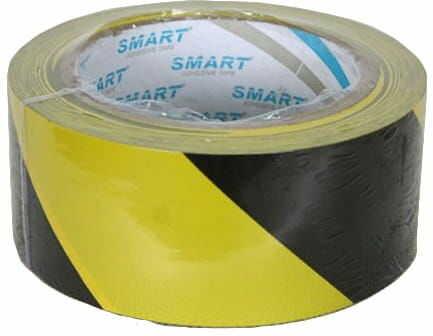 Taśma ostrzeg.samoprzylepna SMART żółto-czarna 25m