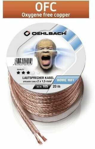 Oehlbach Speaker Wire SP-15 (105 - 2x1,5mm, 20m) - szybka wysyłka!