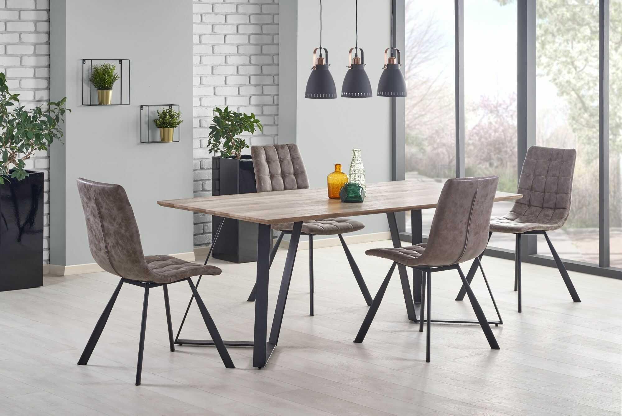 Prostokątny stół Hugo - orzech rustykalny