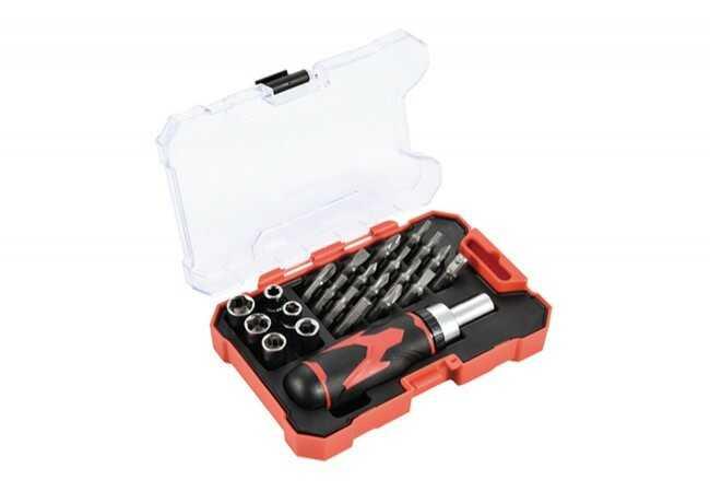 Zestaw bitów i kluczy nasadowych, 23 elementy MHA05003