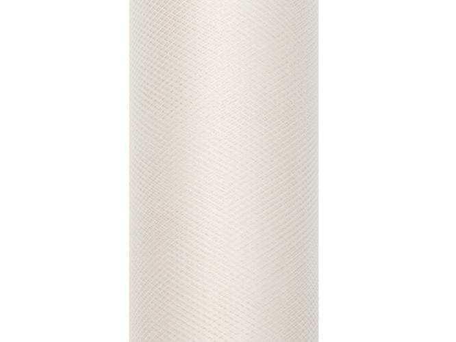 Tiul gładki kremowy - 30 cm x 9 metrów - 1 szt.