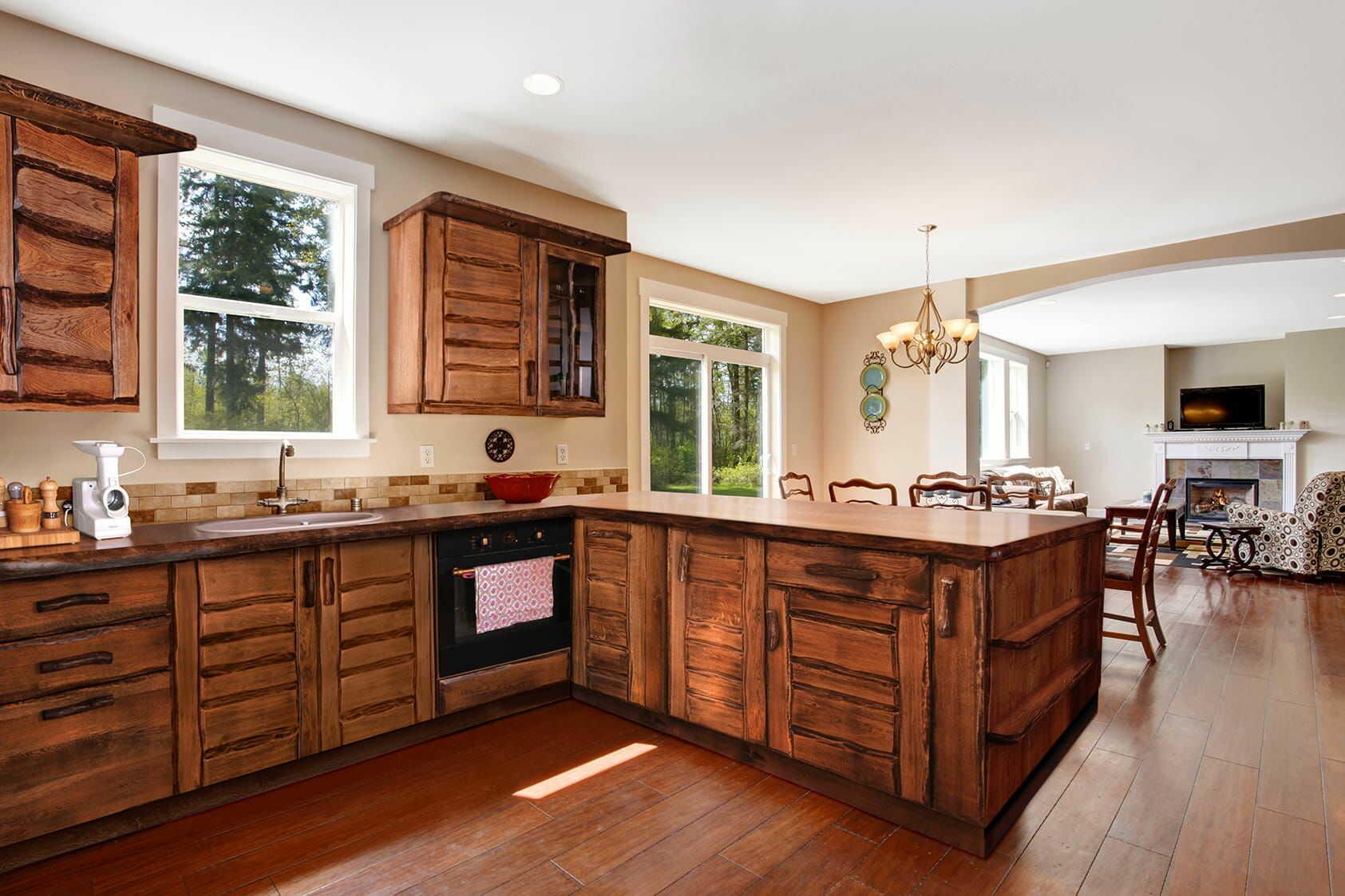 Kuchnia na zamówienie drewniana dębowa styl rustykalny RUSTICA 2