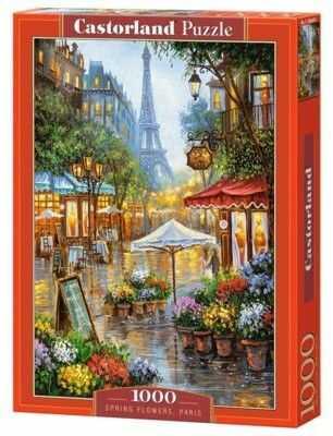 Puzzle Castorland 1000 - Wiosenne kwiaty w Paryżu, Spring Flowers, Paris