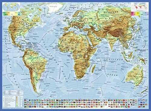 Ravensburger Puzzle dziecięce 13097 - polityczna mapa świata - 300 części