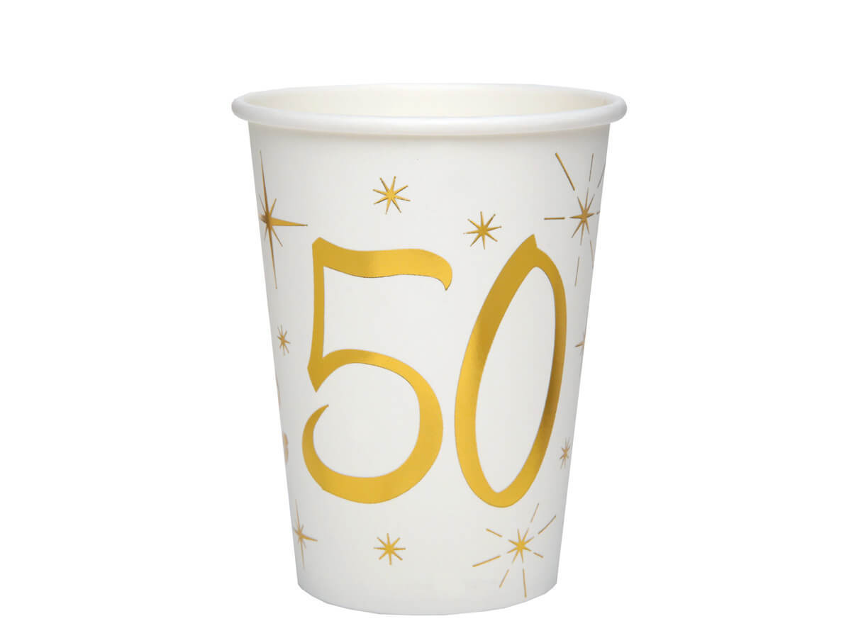Kubeczki na pięćdziesiąte urodziny 50tka - 10 szt.