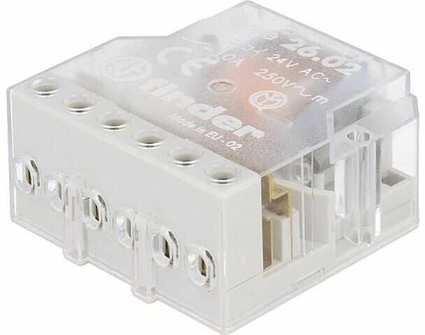Przekaźnik instalacyjny FINDER bistabilny DPST-NO Ucewki:24VAC 10A