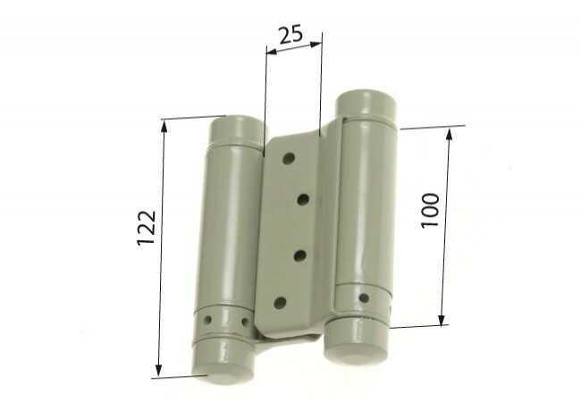 Zawias sprężynowy wahadłowy 100 mm lakier