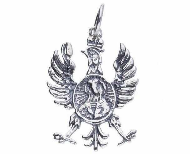 Srebrny wisiorek wisior patriotyczny Orzeł Żołnierzy Wyklętych srebro 925 CR005