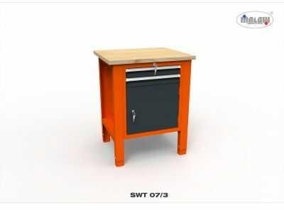 """Stół warsztatowy SWT 07/03 """"JEDYNKA"""" 725mm 2 szuflady narzędzia"""