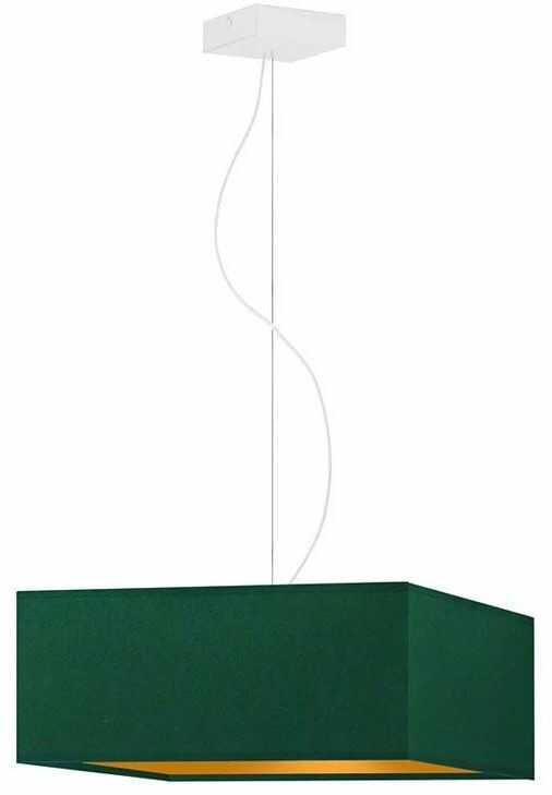 Kwadratowa lampa wisząca z białym stelażem - EX359-Sangriv - 5 kolorów