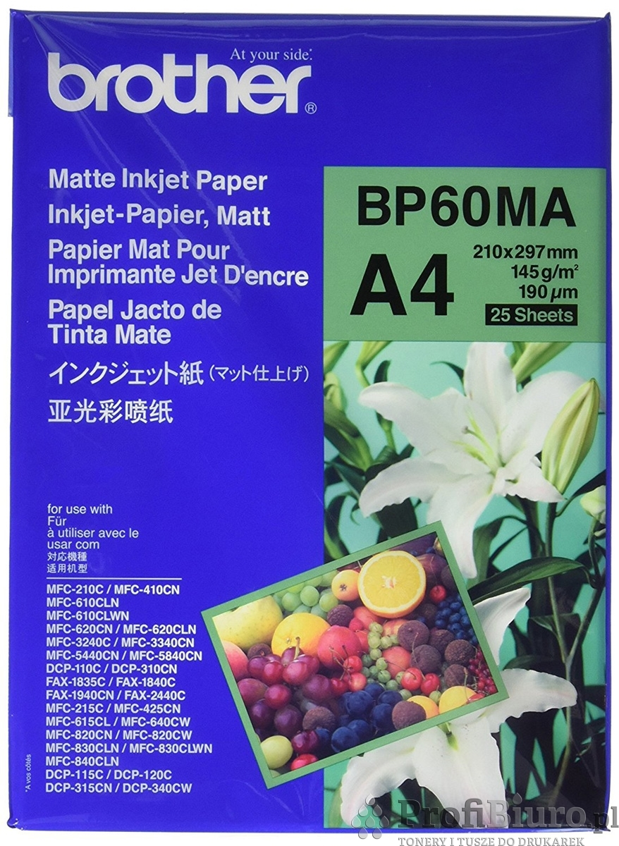 Papier Brother BP60MA Matowy - 145 g/m2 - A4 - 25 szt.