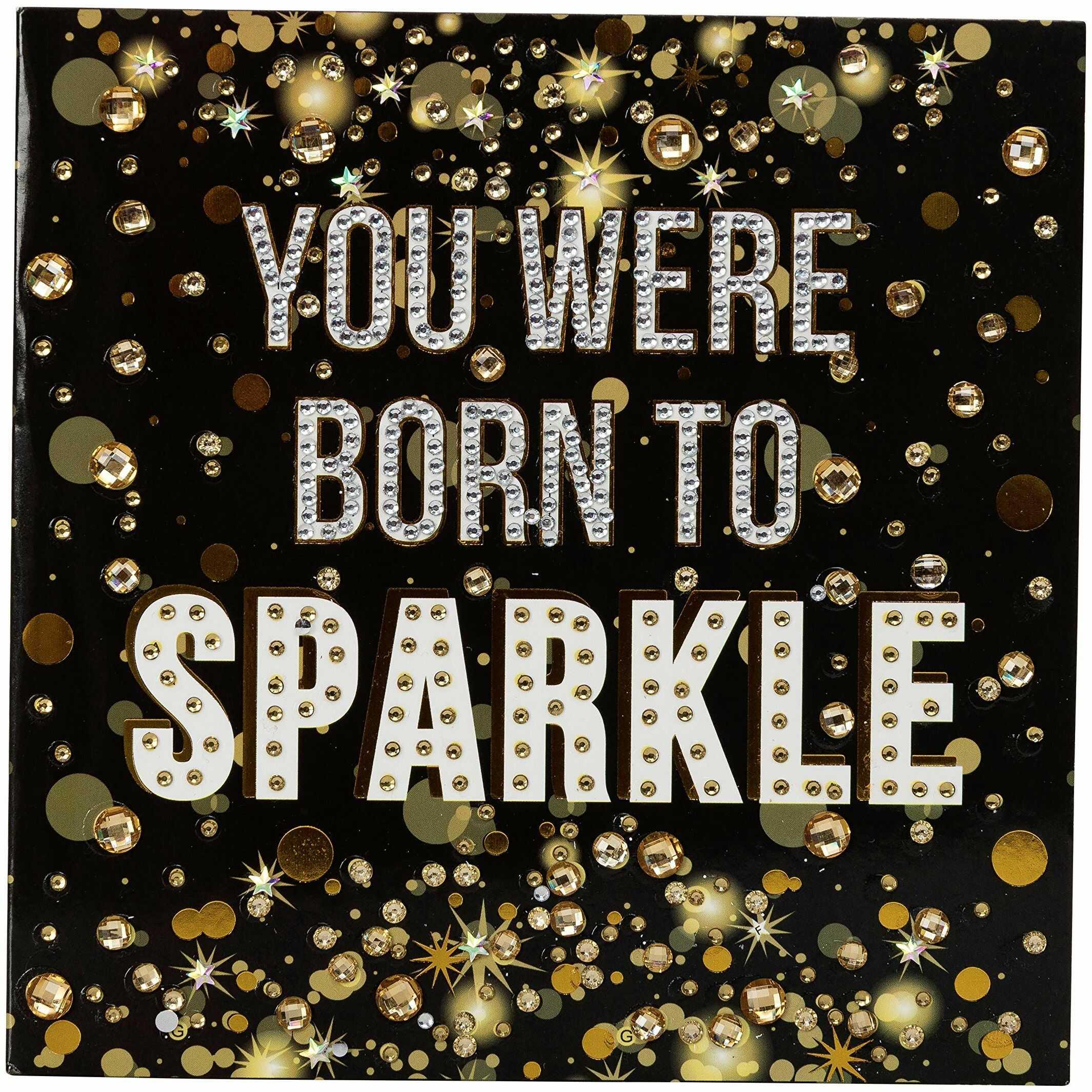 Crystal Art Born to Sparkle zestaw kart artystycznych 18 x 18 cm