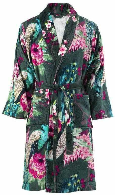 One Couture Szlafrok kąpielowy, wielokolorowy/zielony, średni