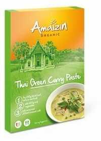 Pasta curry Indian thai green BIO 80g - Amaizin