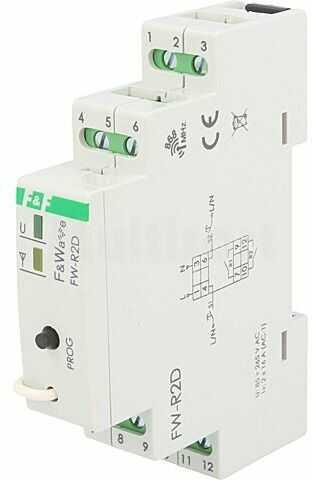 Przekaźnik instalacyjny F&F bistabilny NO x2 Montaż DIN -25 65 C