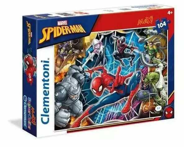 Puzzle 104 Maxi Super kolor Spider-Man - Clementoni
