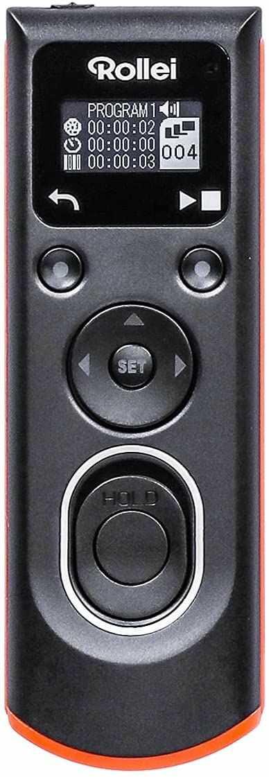 Rollei Telewizor kablowy Sony  umożliwia zdalne wyzwalanie migawki, długotrwałe oświetlenie, zdjęcia seryjne i interwałowe zdjęcia aparatu Canon DSLM/DSLR, podświetlany wyświetlacz OLED
