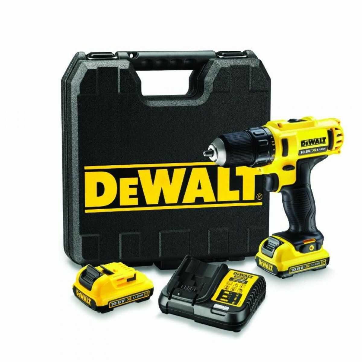 Wiertarko-wkrętarka akumulatorowa DeWalt XR 10,8 V 2 x 2,0 Ah z kufrem