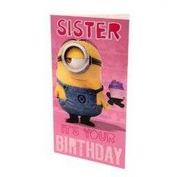 Minionki - kartka urodzinowa